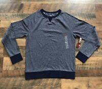 Merona Men's Blue Thermal Long Sleeve Crewneck Shirt Size Medium NWT Target
