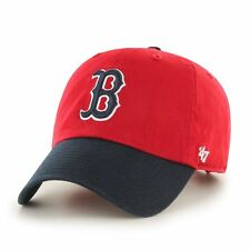 Boston Red Sox 47 Brand MLB Strapback Adjustable Dad Cap Hat Red/Navy Clean Up