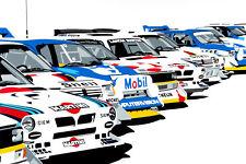 "Rally Coches Grupo B de lona Pared Arte"" 18X24"""