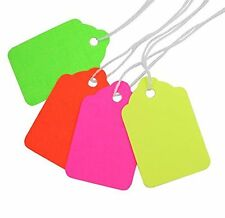 5 Fluorescent Colors Merchandise Tags With Knotted Strings 1 34x1 18 Md5000fx