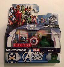 Marvel MiniMates Walgreens Exclusive Avengers Captain America & Hulk - NIB