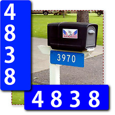 Custom Blue 911 Reflective Address Sign Marker For House or Mailbox