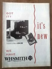 OMD Crush (WHS) 1985 UK magazine ADVERT/Poster/clipping 11x8 inches