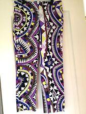 Emilio Pucci Firenze Size 44 42 10 Womens Multi Colored Capri Cropped Pants