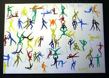 Listed Artist = C PETERSON = MODERN PAINTING = Stacking Movement PEOPLE SERIES