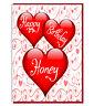 Love Heart Card For WIFE HUSBAND BOYFRIEND GIRLFRIEND Happy Birthday Honey