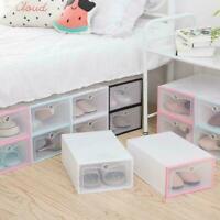 Push Drawer Type Shoes Box Shoe Organizer Drawer Useful Transparent Shoe Box