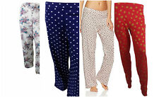 Marks and Spencer Ladies Brushed Print Cotton Long Pyjama Bottoms-Size 8-22