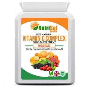Pure Natural Vitamin C Acerola Complex 60 Capsules Immune Support