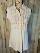 Lilly Pulitzer A Pea in the Pod White Sleeveless Maternity Top Size Medium