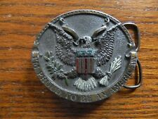 IM PROUD TO BE AN AMERICAN BERGAMOT BRASS WORKS BELT BUCKLE 1981-EAGLE