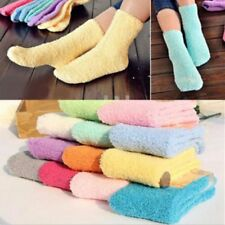 Women Girls Floor Socks Casual Fuzzy Thick Warm Candy Color Slipper Sock Fashion