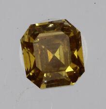 Wonderful Orange Color 0.17 Carat VS2 Clarity Asscher Cut Natural Polish Diamond