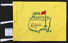 LEFTY!!! Phil Mickelson Signed 2006 MASTER Pin Flag PGA Beckett BAS