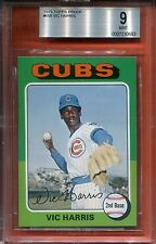 1975 TOPPS VIC HARRIS #658 BGS BVG 9 CUBS POP 1 RARE AUTHENTIC PROOF LABEL