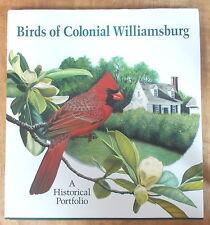 BIRDS OF COLONIAL WILLIAMSBURG: A HISTORICAL PORTFOLIO Feduccia & Pratt COLOR
