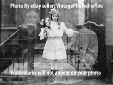 Antique 1905 Creepy/Scary/Weird Little Girl Spirits/Ghosts Double Exposed Photo