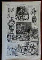 Life in the New York Tenements African Americans Asian Americans 1887 print