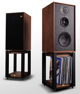 Wharfedale Linton 85 Heritage Speakers with Stands in Walnut