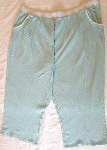 Cacique Pants Sleep Lounge 26/28 Plus Teal Cotton
