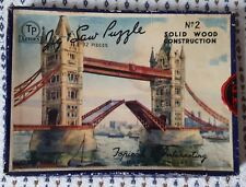 Vintage TP Series Wooden Jigsaw Puzzle of Tower Bridge, London BOXED & COMPLETE