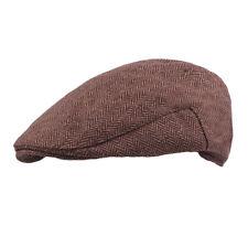 Men Classic Winter Warm Coffee Berets Driving Golf Cap Casual Cabbie Newsboy Hat