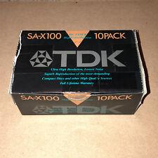 Box of 10 New Sealed TDK SA-X 100  Cassette Tape Japan