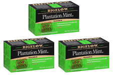 Bigelow Plantation Mint Tea - 3 Boxes - 60 Tea Bags