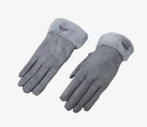 Gloves for Women With Lining Enhanced For Gloves Comfort And Heat - Grey