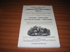 1828/9 DIRECTORY CHESHIRE DERBYSHIRE SHOPSHIRE PIGOT & CO'S FACSIMILE ED