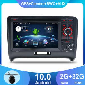2 Din Autoradio Android 10 GPS Sat Navi Stereo For Audi TT MK2 8J BT DVD DAB OBD
