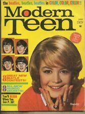 Modern Teen Magazine June 1964 Vol 7 #2 vg+ 4.5 The Beatles w/ FABs centerfold