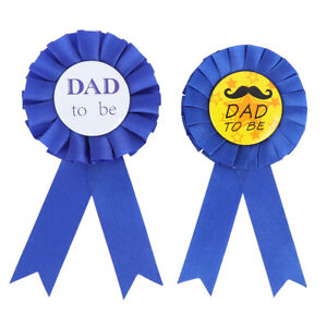 1PC Dad To Be Badge Baby Shower Party Decor father day Party Gift FT