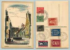 Germany 1947 Baltic DP post card Augsburg DP Camp Altenstard exposition. f7666