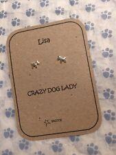 Amante dei Cani Argento Sterling Orecchino Personalizzato Regalo saccos