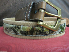 CAMO BELT HUNTING ACCESSORIES HUNTER DECOR UNISEX SIZE 38 ADVANTAGE TIMBER