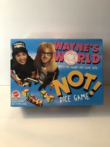 Wayne's World This Is The Worst Dice Game Ever! Not! Dice Game Retro Mattel 1992