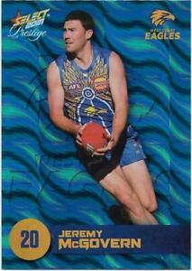 2021 Footy Stars Prestige Parallel Blue (151) Jeremy McGOVERN West Coast 003/125