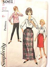 """Retro 1960s Simplicity Pattern 5061 Blouse Skirt & Pants - Vintage Sz12 bust 32"""""""
