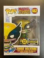 FUNKO POP MARVEL ZOMBIE WOLVERINE GLOW IN DARK ENTERTAINMENT EARTH EXCLUSIVE