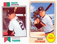 (2) Travis Fryman Odd-Ball Trading Card Lot