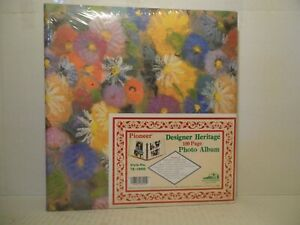 """PIONEER Designer Heritage 100 Page Photo Up to 8""""x10"""" Style No. TR-100D Floral"""
