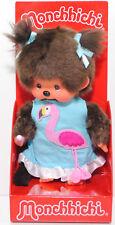 Monchhichi 220489 Flamingo Dress Girl (Flamingo Mädchen), 20 cm groß, Sekiguchi