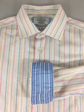 Charles Tyrwhitt 16.5/36 42/91 Striped Long-Sleeve Cotton Shirt Non-Iron