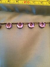 Antique Art Deco Pink Crystal Paste Necklace