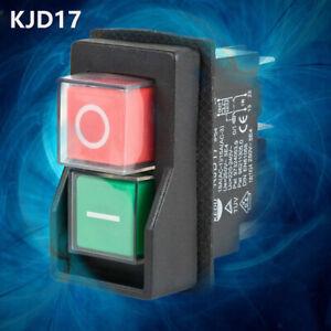 For Workshop Machines 250V KJD17F IP54 5-Pin Start/Stop No Volt Release Switch
