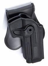 HOLSTER RIGIDE NOIR DROITIER AIRSOFT PISTOLET TYPE M9 M92 PT92 BERETTA 603654