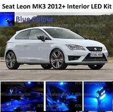 BLUE PREMIUM SEAT LEON 5F MK3 2012-2018 INTERIOR LED XENON LIGHT KIT BULB ST
