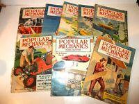 Vintage Paperback Popular Mechanics Magazine 1951 8 Issues May Through December