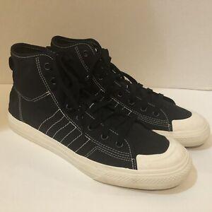 Adidas Originals Nizza Hi RF Black/White Casual Shoes Men's Size 12.5 F34057